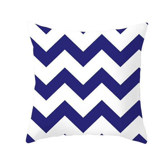 Blue White Porcelain Line-Throw Pillow Case-Home Decor Collection DromedarShop.com Online Boutique