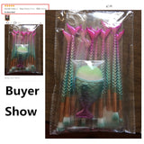 11PCS Pro Mermaid Makeup Brush Set DromedarShop.com Online Boutique