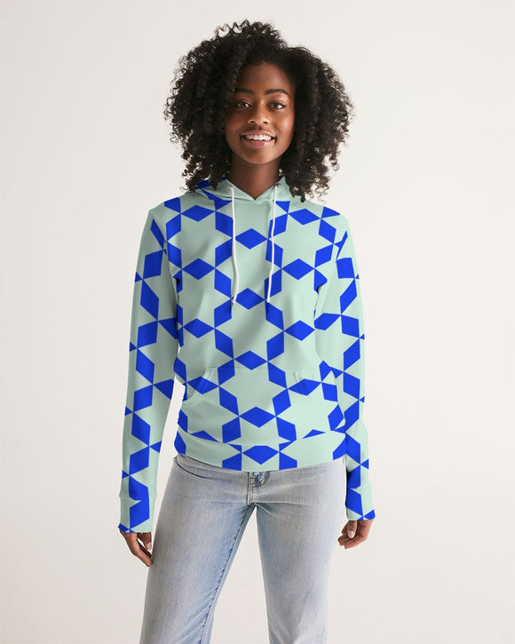 The Miracle of the East  Blue Arabic-pattern Women's Hoodie DromedarShop.com Online Boutique