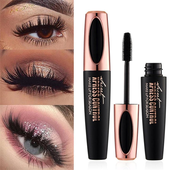 1pc 4D Silk fiber Eye Lashe Makeup Waterproof Silicone Brush Head Mascara
