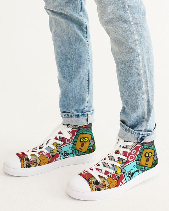 Look At My Face Men's Hightop Canvas Shoe DromedarShop.com Online Boutique