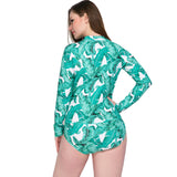 Plus Size Long Sleeve Swimwear Surfing Suit DromedarShop.com Online Boutique
