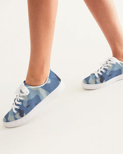 Blue Maniac Camouflage Women's Faux-Leather Sneaker DromedarShop.com Online Boutique