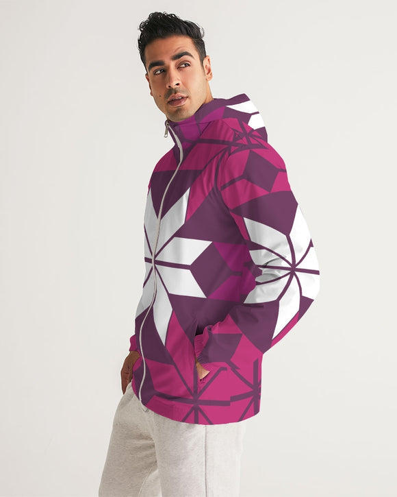 Aztec-Inka Collection Aztec Purple pattern Men's Windbreaker DromedarShop.com Online Boutique