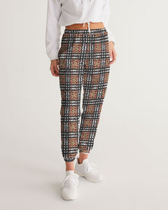 Leopard Plaid Women's Track Pants DromedarShop.com Online Boutique
