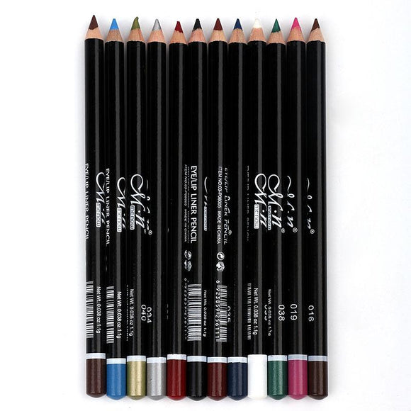 12Colors Eye Make-Up Eyeliner Pencil Waterproof DromedarShop.com Online Boutique