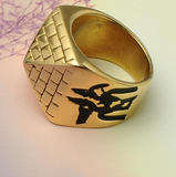 Men' Punk Egyptian Pyramid Ring Fashion Hip hop Jewelry The Eye of Horus Rings - DromedarShop.com Online Boutique
