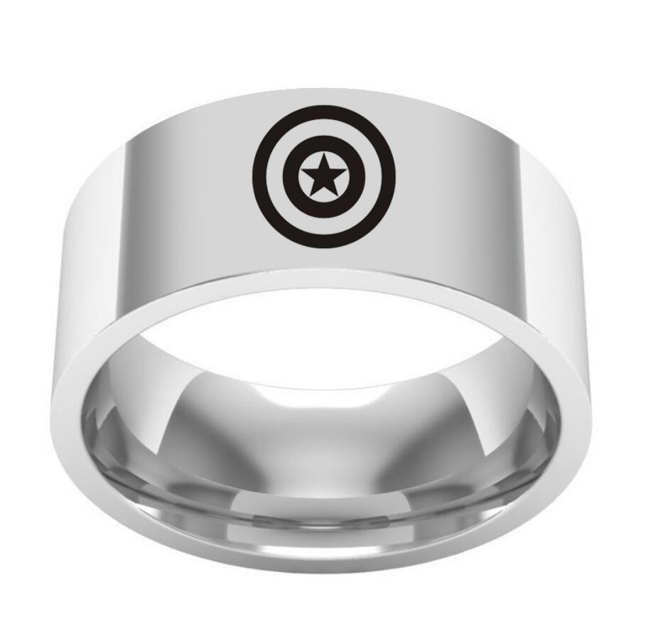 Film around the US captain titanium steel ring ring stainless steel tail ring