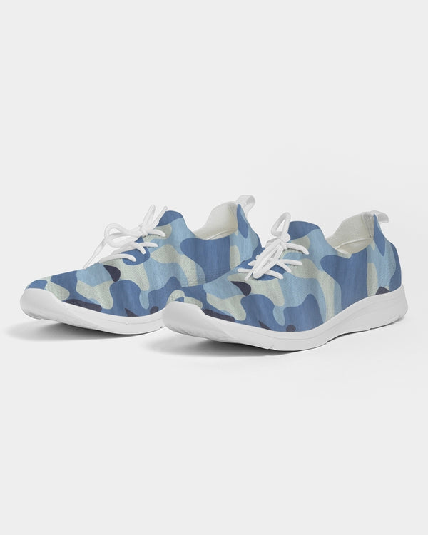 Blue Maniac Camouflage Women's Lace Up Flyknit Shoe DromedarShop.com Online Boutique