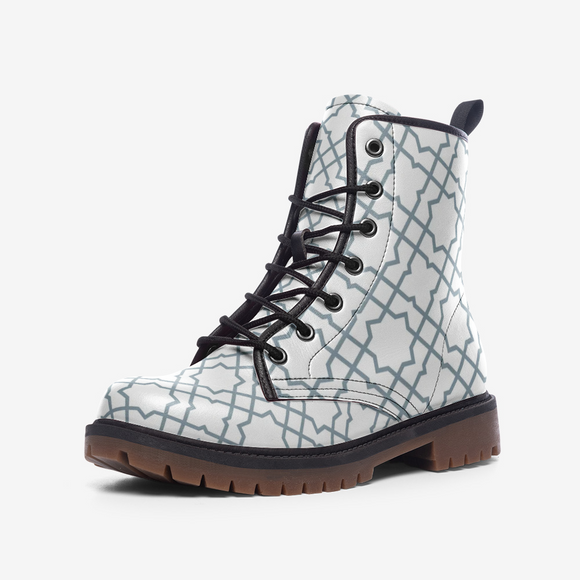 The Miracle of the East White Casual Leather Lightweight Unisex Boots DromedarShop.com Online Boutique