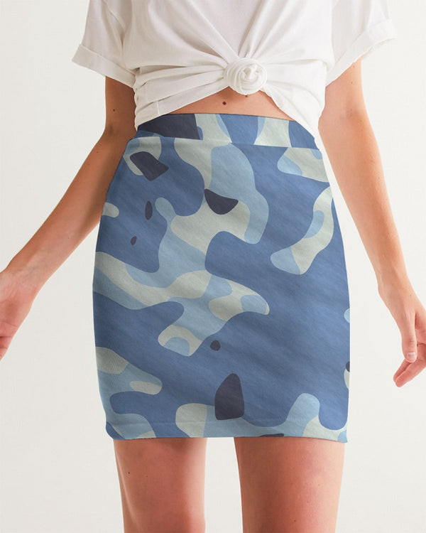 Blue Maniac Camouflage Women's Mini Skirt DromedarShop.com Online Boutique