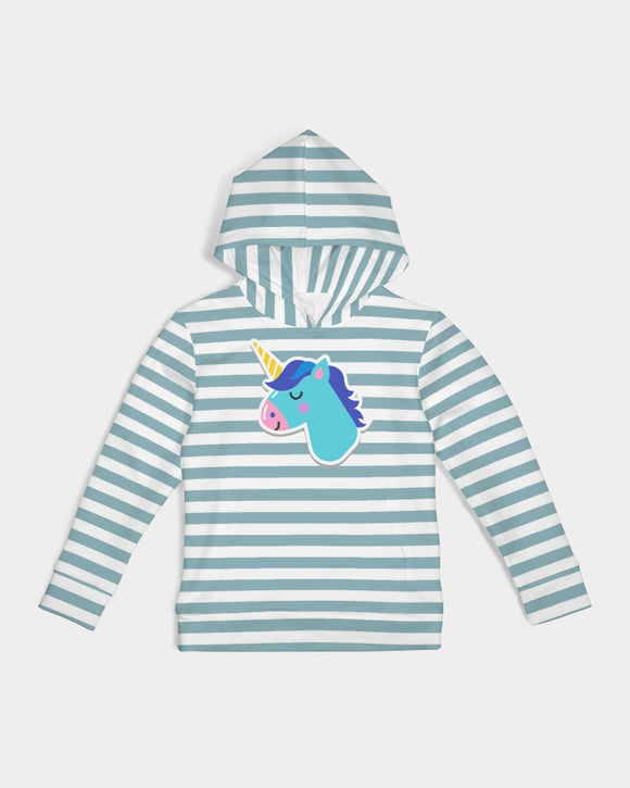 Light Blue Stripes Kids Hoodie DromedarShop.com Online Boutique