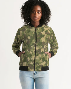 Military Green Women's Bomber Jacket DromedarShop.com Online Boutique