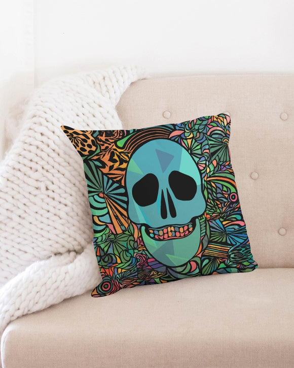 Aztec-Inka Collection Mexican Colorful Skull Throw Pillow Case 18