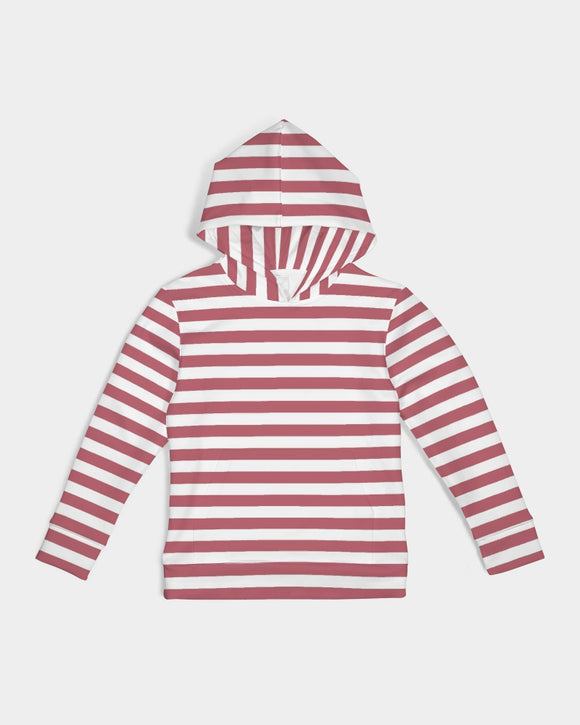 Red Stripes on White Kids Hoodie DromedarShop.com Online Boutique