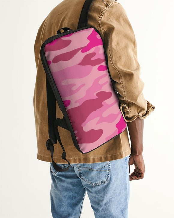 Pink 3 Color Camouflage Slim Tech Backpack DromedarShop.com Online Boutique