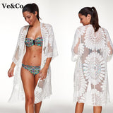 Beach Floral Embroidery Bikini Cover Up - DromedarShop.com Online Boutique