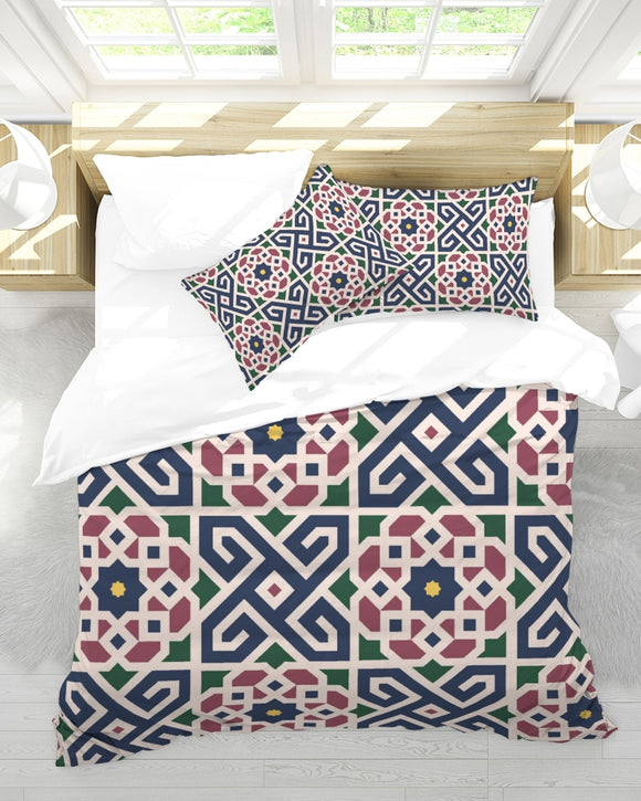 The Miracle of the East Moroccan pattern  Queen Duvet Cover Set DromedarShop.com Online Boutique