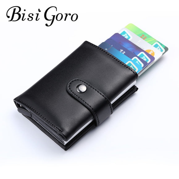 Genuine Leather Safe Credit Card Case RFID Blocker DromedarShop.com Online Boutique