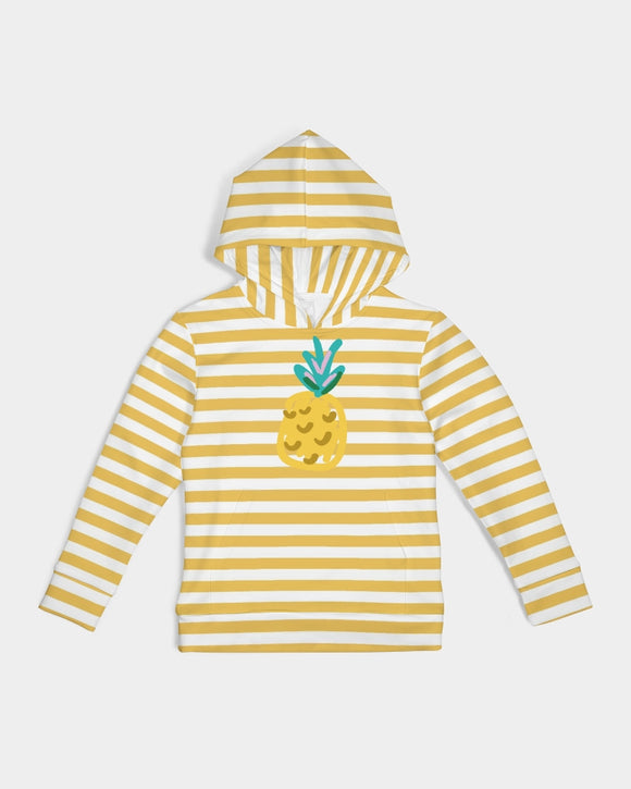 Yellow Stripes on White Kids Hoodie DromedarShop.com Online Boutique