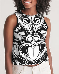 Maori Mask Collection Women's Cropped Tank DromedarShop.com Online Boutique