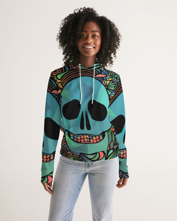 Aztec-Inka Collection Mexican Colorful Skull Women's Hoodie DromedarShop.com Online Boutique