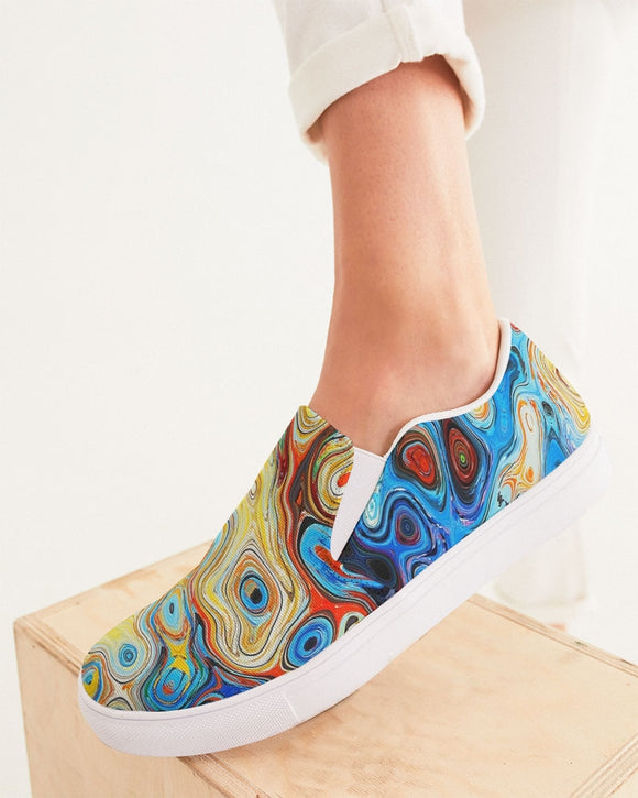 You Like Colors Women's Slip-On Canvas Shoe DromedarShop.com Online Boutique