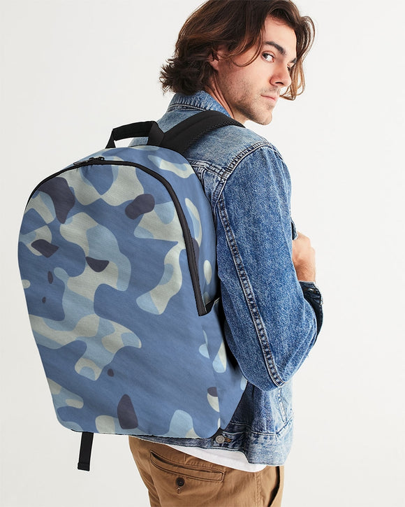 Blue Maniac Camouflage Large Backpack DromedarShop.com Online Boutique