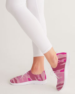 Pink  3 Color Camouflage Women's Lace Up Flyknit Shoe DromedarShop.com Online Boutique