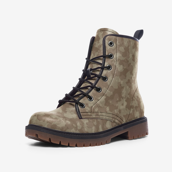 Desert Camouflage Casual Leather Lightweight Unisex Boots DromedarShop.com Online Boutique