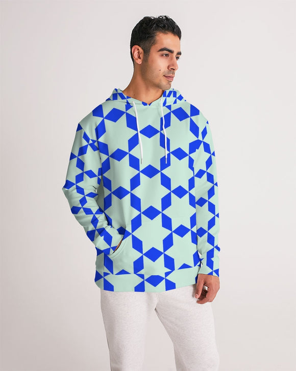 The Miracle of the East  Blue Arabic-pattern Men's Hoodie DromedarShop.com Online Boutique