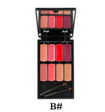 8 colors Lip Gloss Palette Waterproof DromedarShop.com Online Boutique