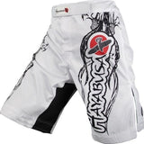 MMA  White dragon Eagle subtitles sports breathable cotton loose boxing training pants mma short kickboxing shorts short muay thai - DromedarShop.com Online Boutique