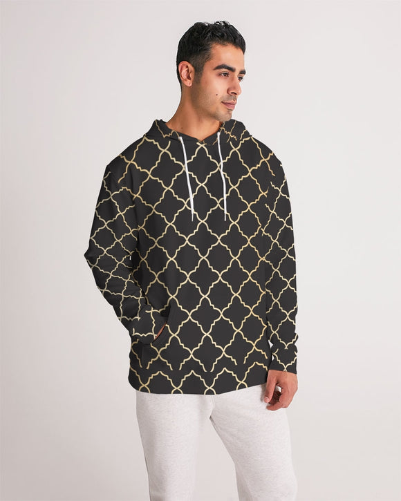 The Miracle of the East Gold Black Arabic pattern  Men's Hoodie DromedarShop.com Online Boutique