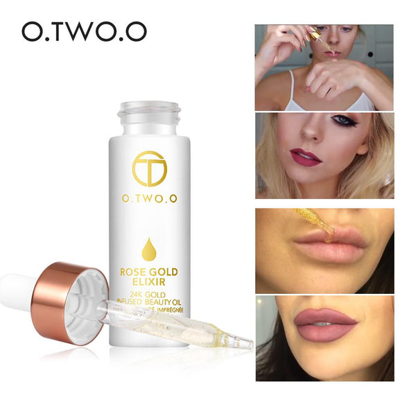 O.TWO.O 24k Rose Gold Elixir Skin Make Up Oil For Face Essential Oil - DromedarShop.com Online Boutique