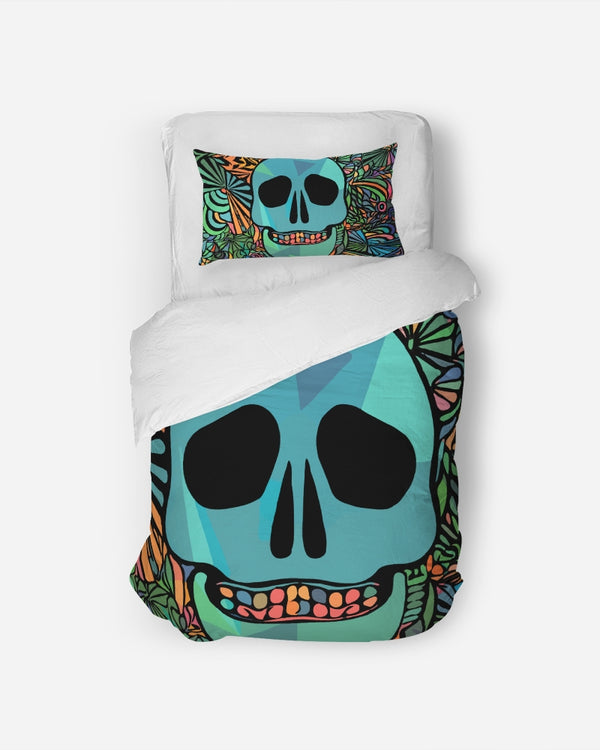 Aztec-Inka Collection Mexican Colorful Skull Twin Duvet Cover Set DromedarShop.com Online Boutique