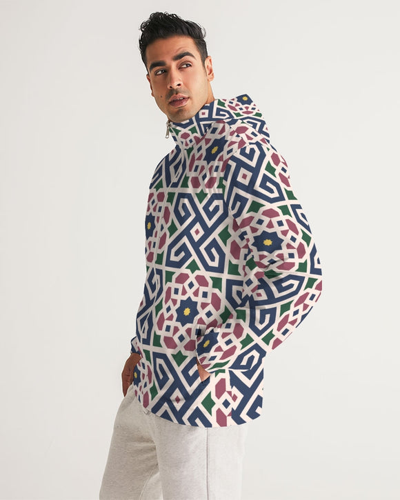 The Miracle of the East Moroccan pattern Men's Windbreaker DromedarShop.com Online Boutique