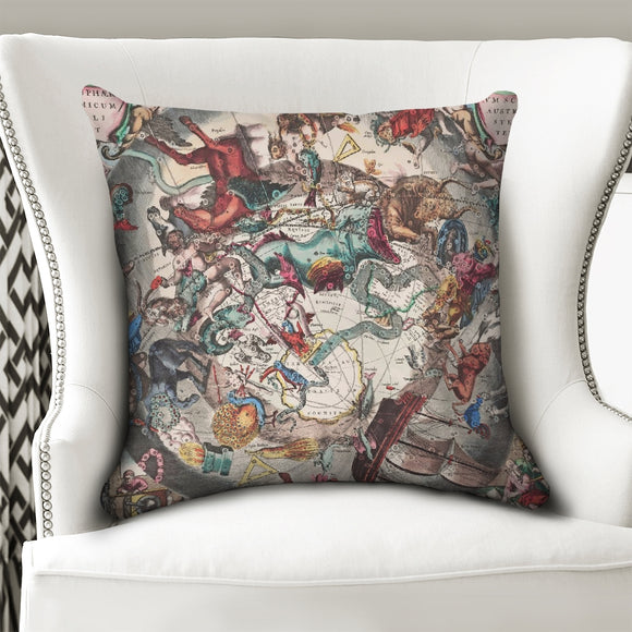 stars map dark Throw Pillow Case 20