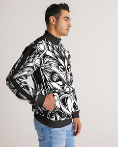 Maori Mask Collection Men's Stripe-Sleeve Track Jacket DromedarShop.com Online Boutique