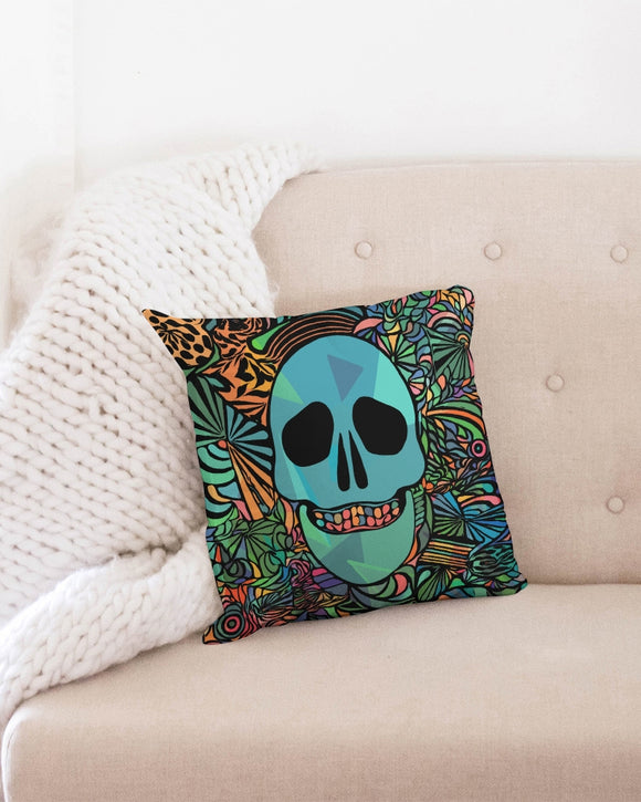 Aztec-Inka Collection Mexican Colorful Skull Throw Pillow Case 16