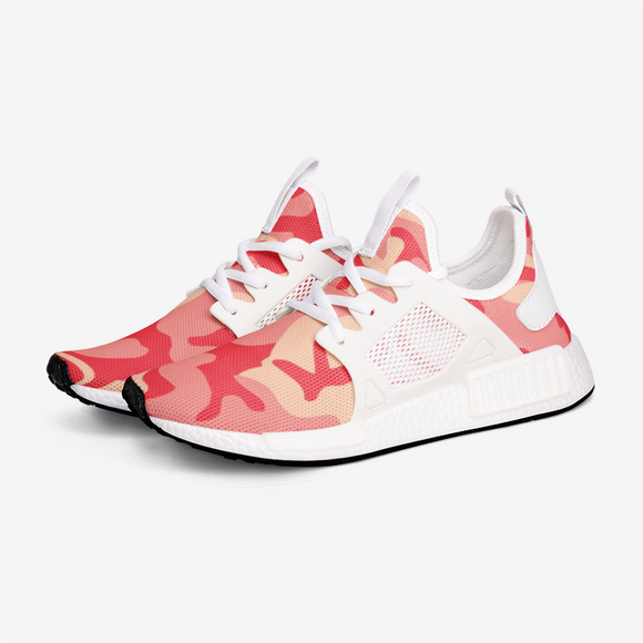 Red Coral Camouflage Unisex Lightweight Sneaker DromedarShop.com Online Boutique