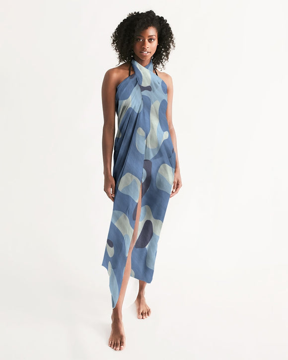 Blue Maniac Camouflage Swim Cover Up DromedarShop.com Online Boutique