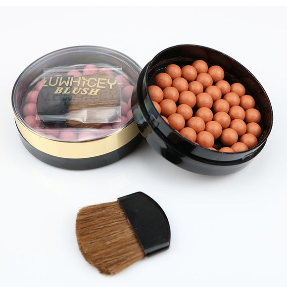 1pc Makeup Face Matte Blusher Ball 3 In 1 Blush Eyeshadow 8 Colors