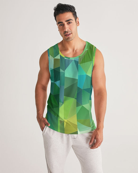 Green Line 101 Men's Sports Tank DromedarShop.com Online Boutique