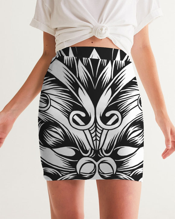 Maori Mask Collection Women's Mini Skirt DromedarShop.com Online Boutique