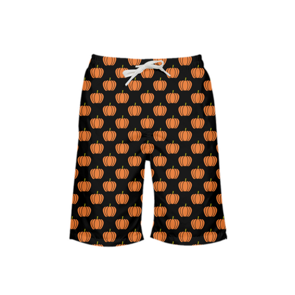 Halloween Pumpkin Boy's Swim Trunk DromedarShop.com Online Boutique