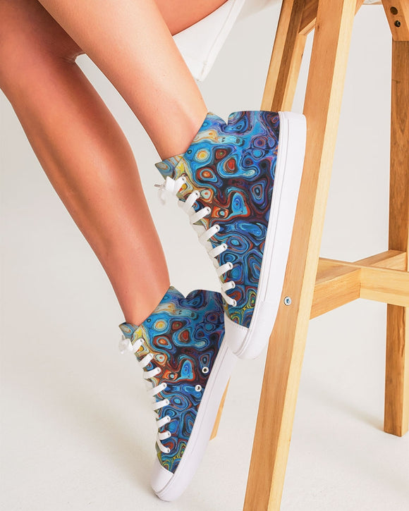 You Like Colors Women's Hightop Canvas Shoe DromedarShop.com Online Boutique