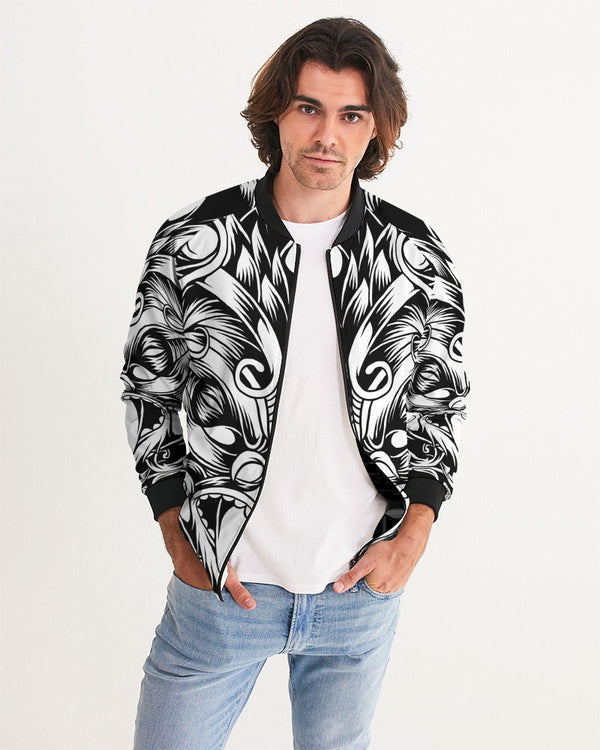Maori Mask Collection Men's Bomber Jacket DromedarShop.com Online Boutique