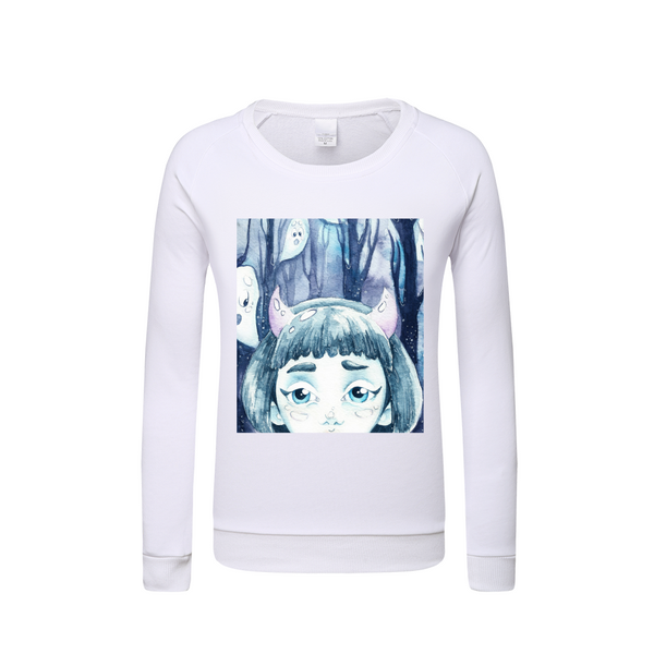 Halloween Spooky Ghost Kids Graphic Sweatshirt DromedarShop.com Online Boutique
