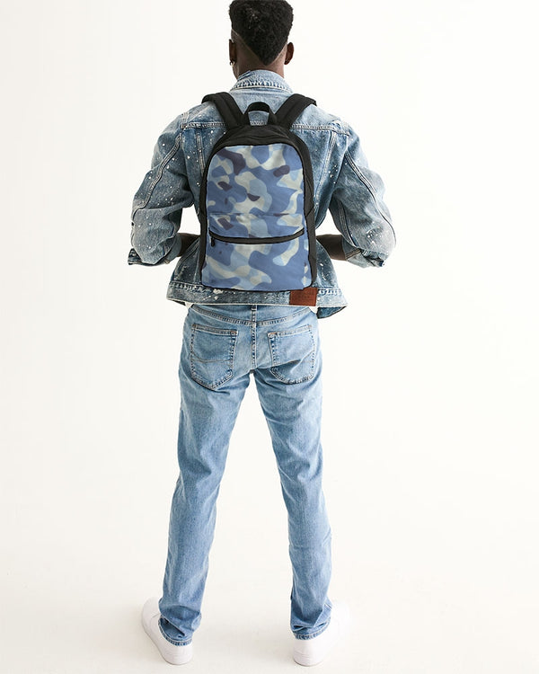 Blue Maniac Camouflage Small Canvas Backpack DromedarShop.com Online Boutique